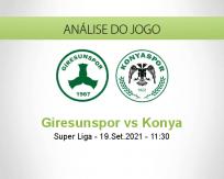 Prognóstico Giresunspor Konya (19 Setembro 2021)