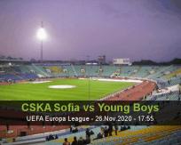 Prognóstico CSKA Sofia Young Boys (26 Novembro 2020)