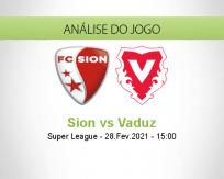 Prognóstico Sion Vaduz (28 Fevereiro 2021)