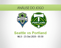 Prognóstico Seattle Sounders Portland Timbers (23 Outubro 2020)