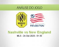 Prognóstico Nashville SC New England (24 Outubro 2020)