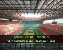Milan vs Atl. Madrid
