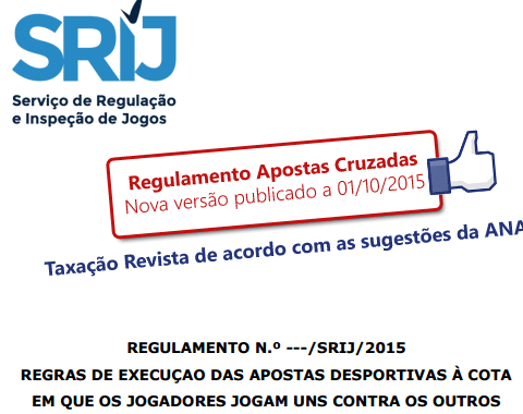 NOVA versão do regulamento de apostas cruzadas