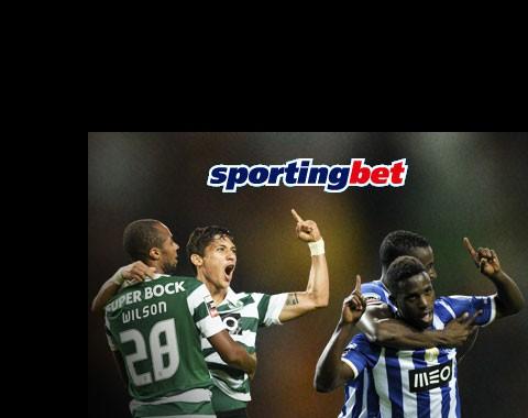 Porto vs Sporting com golos igual a bónus de 100%