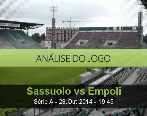Análise do jogo: Sassuolo vs Empoli (28 Outubro 2014)