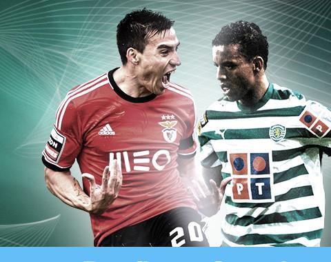 Benfica vs Sporting: ganhas 100% bónus se ambas as equipas marcarem