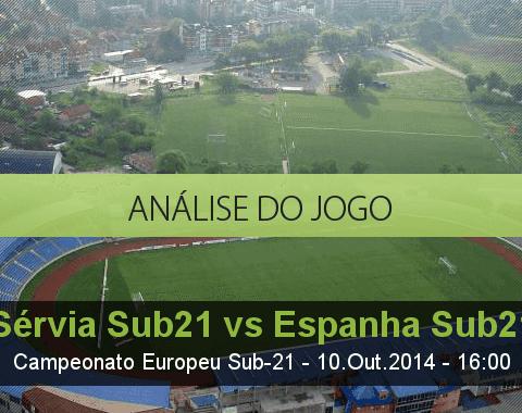 Análise do jogo: Sérvia Sub 21 vs Espanha Sub 21  (10 Outubro 2014)