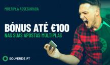 Aposta grátis até 100€ em solverde.pt