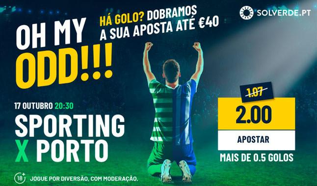 Dobra aposta no clássico Sporting vs Porto