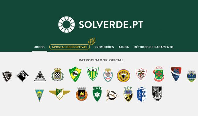 Solverde patrocina 19 clubes do futebol português