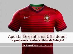 México vs Portugal: ganha uma camisola oficial de Portugal na Offsidebet