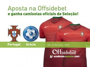 Portugal vs Grécia: ganha uma camisola oficial de Portugal na Offsidebet