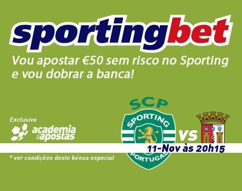 Vou apostar €50 sem risco no Sporting e vou dobrar a banca!