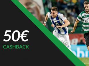 Clássico entre Sporting e FC Porto - Cashback