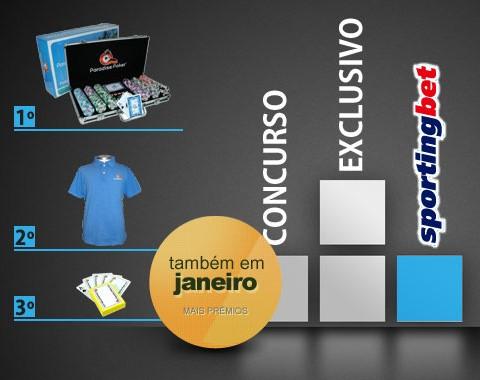 Concurso especial Sportingbet: volume de apostas em Janeiro