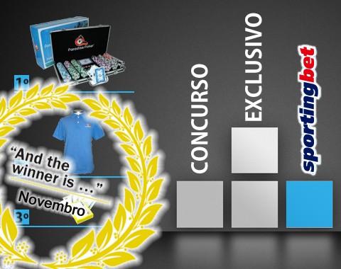 Concurso especial Sportingbet: volume de apostas em Novembro