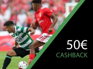 50€ no Benfica vs Sporting
