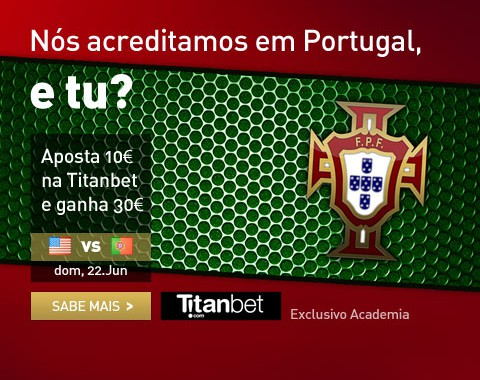 Estados Unidos vs Portugal: Apoia Portugal e ganha 30€