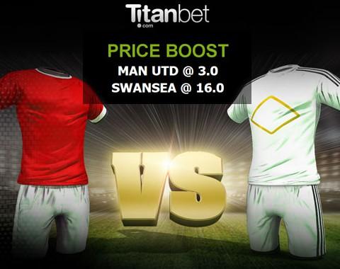Manchester Utd vs Swansea: o maior prémio que vais encontrar ao apostar nestas equipas