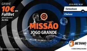 Tottenham de Mourinho recebe o Chelsea com Missão na Betano
