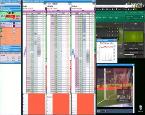 Trading Live em futebol - vídeos comentados de Mr23 - Ep03 Sevilha vs Atlético Madrid