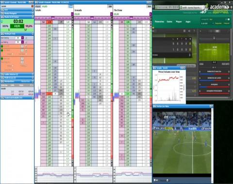 Trading Live em futebol - vídeos comentados de Mr23 - Ep01 Getafe vs Granada