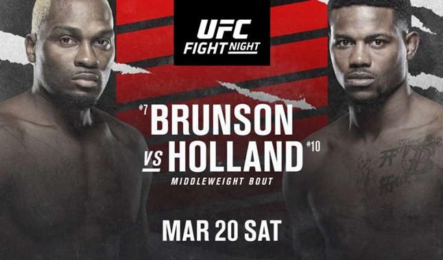 Todo sobre la pelea entre Derek Brunson vs Kevin Holland