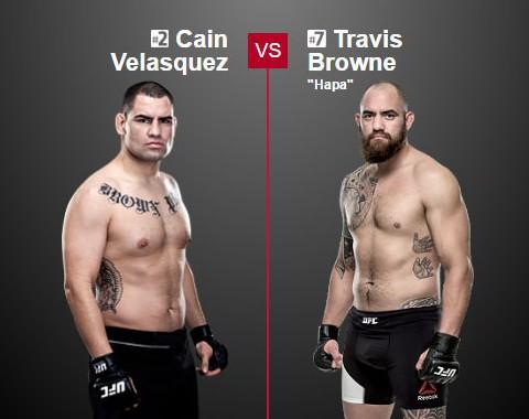 Preview: Caín Velásquez vs Travis Browne (UFC - 9 July 2016)