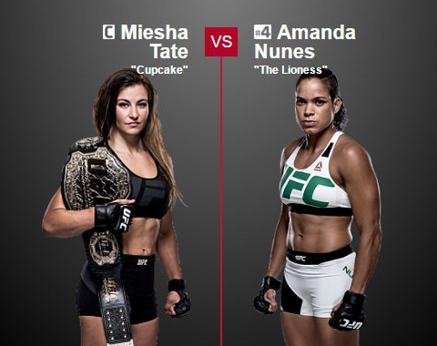 Preview: Miesha Tate vs Amanda Nunes (UFC - 9 July 2016)