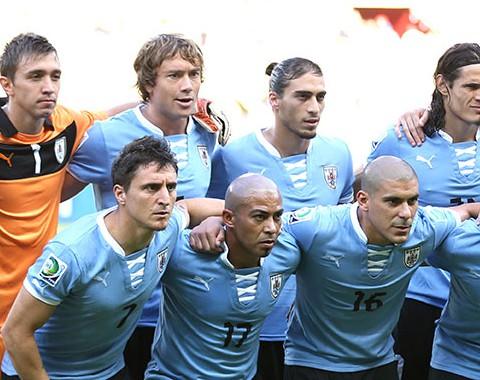 O Uruguai de Diego Forlán, Ednison Cavani e Luis Suárez