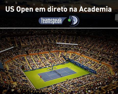 US Open de tênis com acompanhamento em direto na Academia Brasil