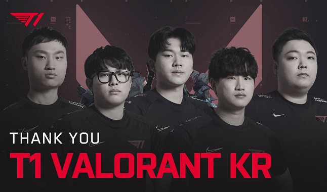Valorant: T1 dismisses Korean roster