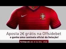Vídeo México vs Portugal: ganha uma camisola oficial de Portugal na Offsidebet