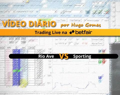 Rio Ave vs Sporting - vídeo completo de trading na Betfair
