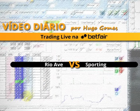 Vídeo comentado de Trading ao Vivo na Betfair: jogo Rio Ave vs Sporting