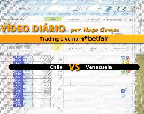 Vídeo comentado de Trading ao Vivo na Betfair: jogo Chile vs Venezuela