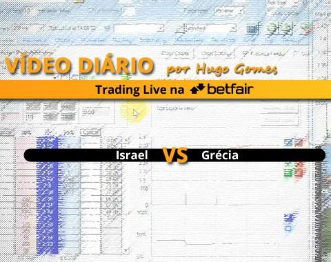 Israel vs Grécia - vídeo completo de trading na Betfair