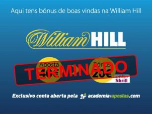 William Hill com bónus de boas vindas de 20€ na Academia das Apostas