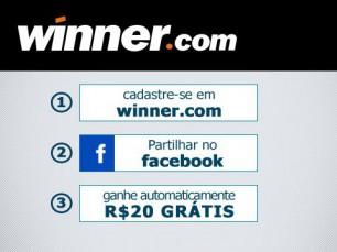 Bonus sem deposito na Winner.com