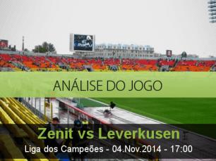 Análise do jogo: Zenit vs Bayer Leverkusen (4 Novembro 2014)